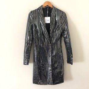 Missguided sequin blazer dress tall size 4 NWT